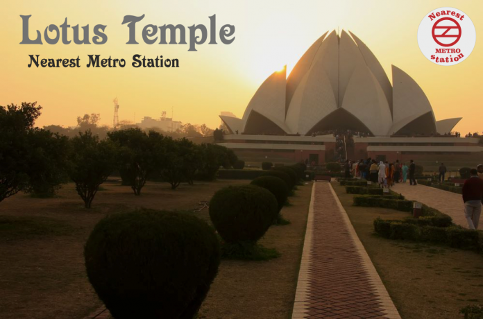 lotus temple nearest metro station