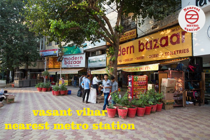 vasant vihar nearest metro station
