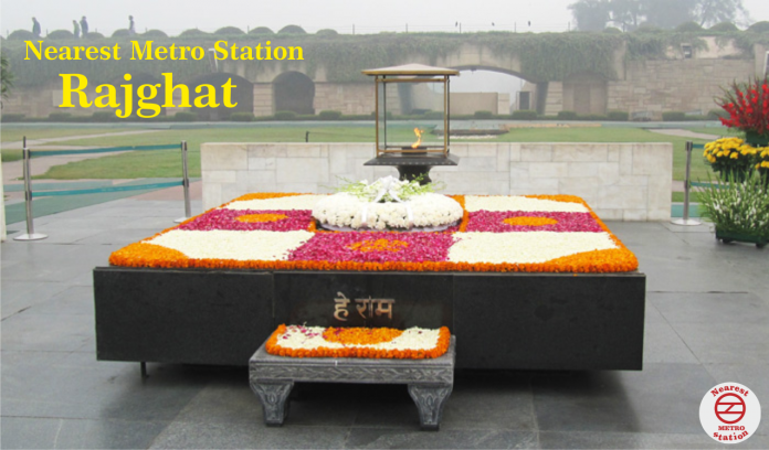 nearest metro station to rajghat